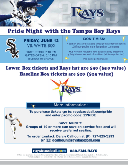 Tampa Bay Rays LGBT Pride Night
