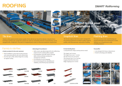 Rollforming lines for Tile Sheet, Snaplock and Flashing Profiles