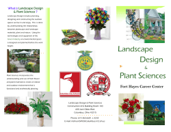 Landscape Design Plant Sciences