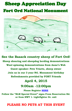 Sheep Appreciation Day - Fort Ord Recreation Trails Friends