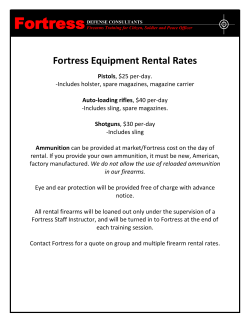 Firearm Rental Rates - Fortress Defense Consultants