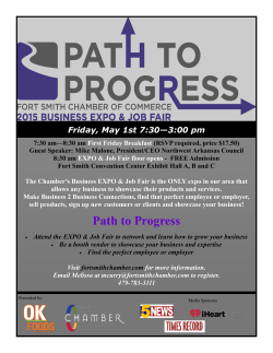 Path to Progress - Fort Smith Chamber of Commerce
