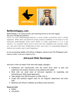 BeWorkHappy.com Allround Web Developer