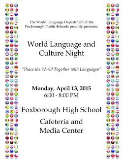 World Language and Culture Night Foxborough High School