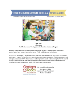 April 2015 - Food Research & Action Center
