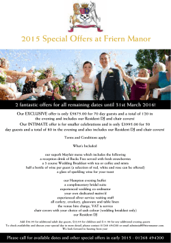 2015 Special Offers at Friern Manor