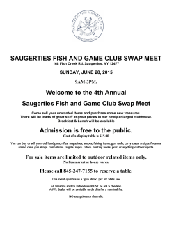 SAUGERTIES FISH AND GAME CLUB SWAP MEET