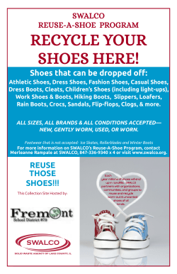 SWALCO REUSE-A-SHOE PROGRAM Shoes that can be dropped off