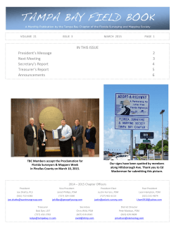 Issue 3 – March 2015 - Tampa Bay Chapter of FSMS
