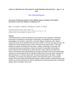 Assessment of Macroinvertebrate Trait Affinities along a Gradient of