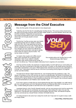 Message from the Chief Executive