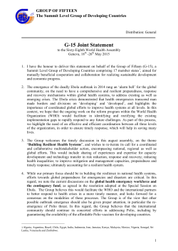G-15 Joint Statement