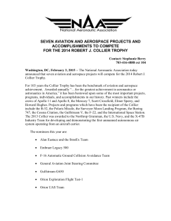 NAA 2014 Collier Trophy Nominations Announcement