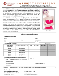 Ticket Order Form – 2015 Bridge to S.U.C.C.E.S.S. Gala – English