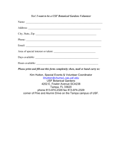 Volunteer Form - USF :: Botanical Gardens