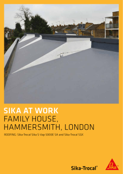Case Study: Hammersmith Family House - Sika