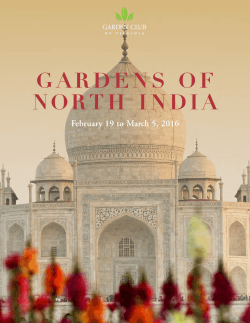 Explore the Gardens of North India Feb. 19 to March 5, 2016