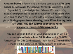 Amazon books is launching a unique campaign, Kids Love Books, to