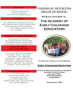 The Academy of Early Childhood EDUCATION