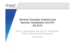 Seminar Computer Graphics and Seminar Visualization and HCI SS