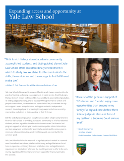 Yale Law School - Giving to Yale