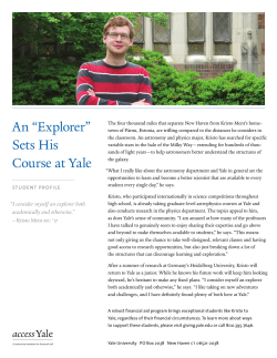 "An ""Explorer"" Sets His Course at Yale - Giving to Yale"
