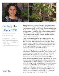 Finding Her Place at Yale - Giving to Yale