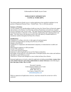 Registered Practical Nurse - Gizhewaadiziwin Health Access Centre