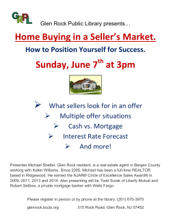 Home Buying in a Seller`s Market