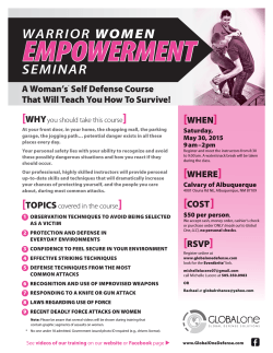 warrior woman flyer - Global One Defense