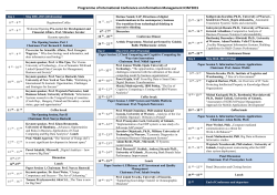 Programme of International Conference on Information Management