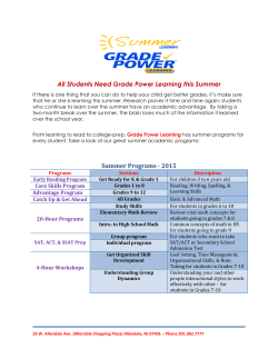 Summer Program - Grade Power Learning