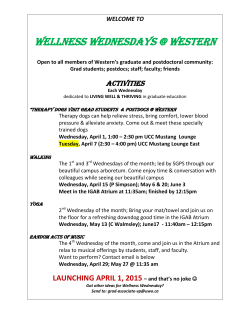 wellness wednesdays @ western - Graduate and Postdoctoral Studies