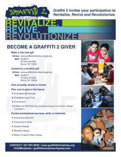 our fact sheet - Graffiti 2 Community Ministries