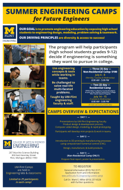 SUMMER ENGINEERING CAMPS - Grand Blanc High School