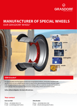 MANUFACTURER OF SPECIAL WHEELS - Grasdorf