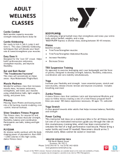 ADULT WELLNESS CLASSES - Greater Scranton YMCA