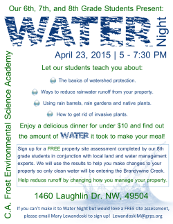 CA Frost Water Event Flyer