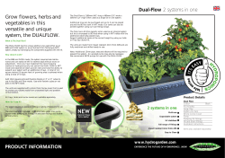 Dual Flow sheet - Hydroponics from Hydrohobby, a UK based shop