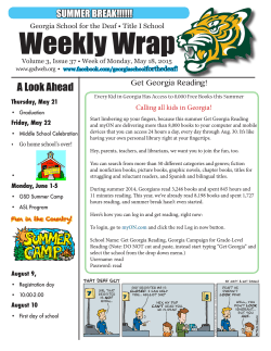 Weekly Wrap - Georgia School for the Deaf