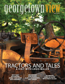 TRACTORS AND TALES - Georgetown View Magazine