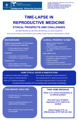 Time-lapse in reproductive medicine: ethical prospects and