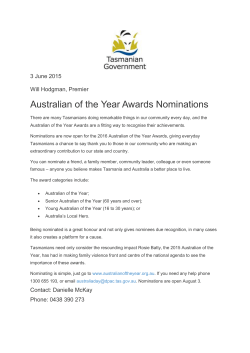 Australian of the Year Awards Nominations