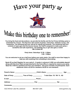 Birthday Registration Form