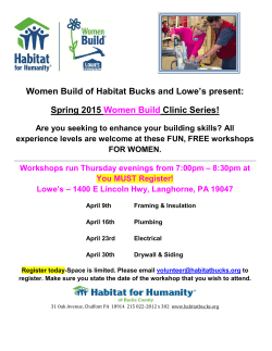 Women Build of Habitat Bucks and Lowe`s present: Spring 2015