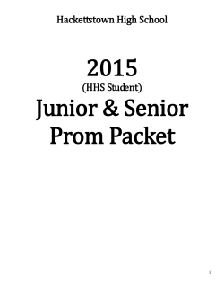 HHS Student Prom Packet - Hackettstown School District