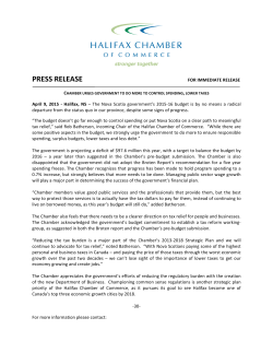 policy pdf - Halifax Chamber of Commerce