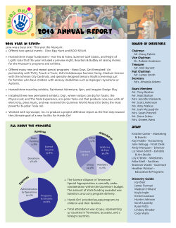 2014 Annual Report - Hands On! Regional Museum