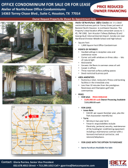 office condominium for sale or for lease