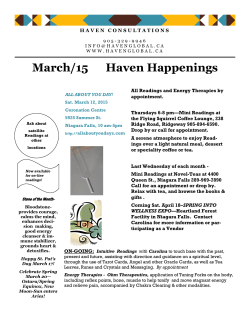 March/15 Haven Happenings